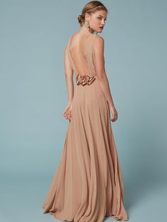 Friends don't make friends wear ugly bridesmaid dresses. This is a floor length, wrap dress with flower details at the back waist and a deep v neckline. Gala Dresses, Dress Outfits, Evening Dresses, Dress Up, Wrap Dress, Elegant Dresses, Formal Dresses, Poppy Dress, Wedding Guest Looks