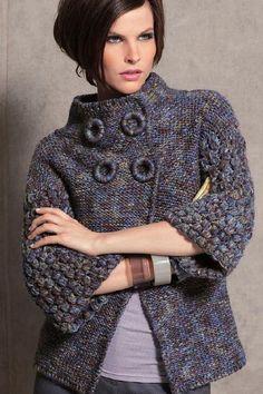 Crochet Jacket, Crochet Cardigan, Knit Jacket, Sweater Knitting Patterns, Dress Sewing Patterns, Knitwear Fashion, Sweater Fashion, Cute Crochet, Knit Crochet