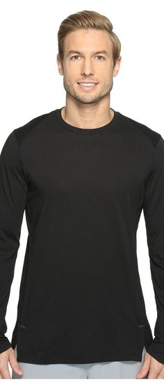 Nike Elite Long Sleeve Basketball Top (Black/Black) Men's Clothing - Nike, Elite Long Sleeve Basketball Top, 830944-010, Apparel Top General, Top, Top, Apparel, Clothes Clothing, Gift, - Street Fashion And Style Ideas