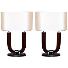 "Pair of Modernist ""Deco"" Table Lamps"
