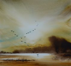 Keith Nash's website contains images of his watercolors, showing landscape and marine paintings. The watercolors are mainly of Norfolk and Suffolk scenes of boats,birds and beaches!