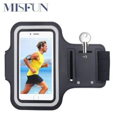Waterproof Gym Sports Running Armband Arm Band Pouch Phone Case Cover + Key Holder for IPhone 5 5S 5C 5G 4 4S 6 6s iPod Touch 5