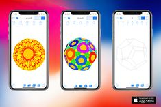 New version of Polyhedra with iPhone X support is out. See See https://martp.lsrodier.net and  https://itunes.apple.com/us/app/polyhedra-3d/id741648895 for details.