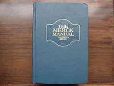 The MERCK MANUAL, Vintage 1977, 13TH Edition, Hardcover Book, Medical Book, Diagnosis, Therapy by BackStageVintageShop on Etsy