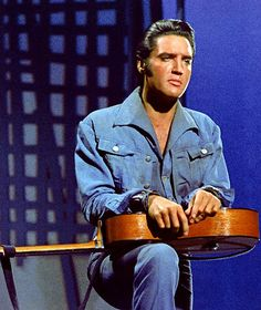 Elvis Presley during filming of the NBC-TV Special in 1968