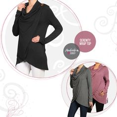 Presale: Serenity Now <3 Girl it's going to be hard for anyone to concentrate on their breathing or meditation with your looking so good. This faux wrap lightweight tunic drapes in all the right places leaving you perfectly put together without any effort. So whether you're headed to yoga class or the post office you'll be projecting all kinds of zen.