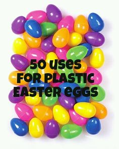 50 Uses for Plastic Easter Eggs - Twiniversity Twin Parenting Site - - Are you wondering what to do with all those plastic Easter eggs? Surprisingly, there are many uses for plastic Easter eggs. Here are 50 suggestions! Plastic Easter Eggs, Easter Crafts For Kids, Plastic Egg Crafts For Kids, Easter Projects, Bunny Crafts, Hoppy Easter, Easter Gift, Easter Party, Easter Table