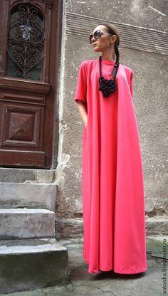 Платье в пол длинное платье платья яркое платье платья летнее платье длинное платье в пол коралловое платье красивое платье