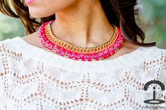 DIY: Fluoro necklace