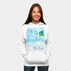 Let's Go Fly A Kite! Pullover Hoodie By Noondaydesign Design By Humans