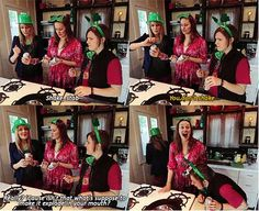 Shotgunning beers with Grace Helbig (DailyGrace), Mamrie Hart (YDAD), and Hannah Hart (MDK)
