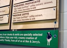 simple menu board design-ben and Jerry's