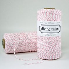 PINK Bakers Twine Pink Twine and White Stripes by PrettyTape, $15.00