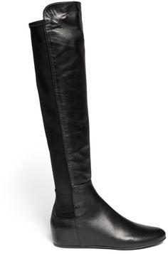 Stuart Weitzman Mainline Leather Knee-High Boots