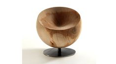 GLOBE Swivel cedarwood armchair Manufacturer Riva 1920 design by Paolo Nava Drawing Furniture, Art Deco Furniture, Wooden Furniture, Cool Furniture, Furniture Design, Furniture Chairs, Objet Deco Design, Wood Arm Chair, Occasional Chairs