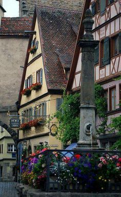 Rothenburg Flowers.. Rothenburg ob der Tauber, Bavaria, Germany