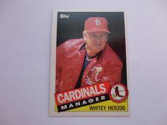 Whitey Herzog 1985 Topps Baseball Card