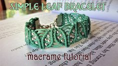 Macrame leaf bracelet tutorial 🍂🍂🍂  How to make leaf pattern macrame armlet