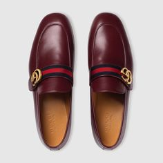 Gucci Leather loafer with GG Web Detail 3