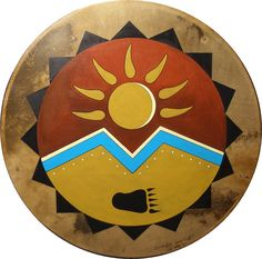 Native American Style Drums hand-crafted by Living Drums. Indian drums, hoop drums, ceremonial drums used in drum circles and personal drum meditation. Native American Music, Native American Artwork, Native American Symbols, Native American Crafts, Native American Design, American Indian Art, Native American Fashion, Aztecas Art, Drums Art