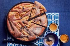 Dairy-free pear, sultana and olive oil cake