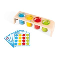 Wood Kids Toys, Wood Toys, Sorting Colors, Montessori Playroom, Montessori Activities, Color Games, Traditional Toys, Name Puzzle, Curved Wood