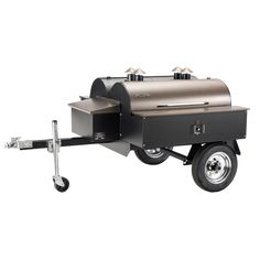 Traeger Double Commercial Trailer BBQ Grill   Two independently operating units let you manage separate food items simultaneously or use only the space you need. Each side has 836 square inches of gri