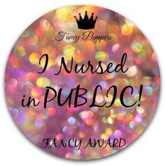 Use this award to celebrate! Find Fancy Pumpers on FB @ Fancy Pumping Friends!