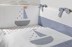 Nautical Baby Nursery, Baby Nursery Bedding, Baby Bedding Sets, Cot Bedding, Quilt Baby, Baby Set, Mom And Baby, Baby Kids, Baby Cot Bumper