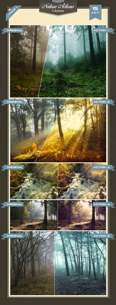 Free Download Nature Photoshop Actions by baturaN | ActionsPresets.com