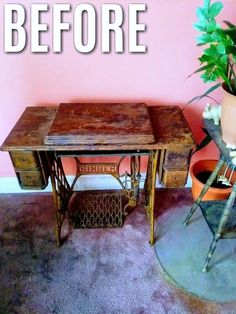 I love how it turned out! | diy home decor | diy vintage sewing machine transformation | #diy #homedecor #upcycle | sponsored