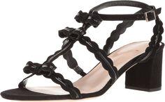 Kate Spade New York Medea Black Kid Suede/Patent Women's Shoes. 8803741. Open Footwear.