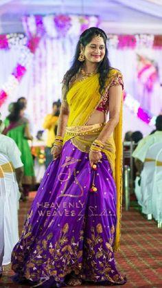 Half Saree Lehenga, Lehenga Style, Bridal Lehenga Choli, Indian Lehenga, Saree Dress, Lehenga Blouse, Kids Blouse Designs, Bridal Blouse Designs, Saree Blouse Designs