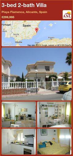 3-bed 2-bath Villa in Playa Flamenca, Alicante, Spain ►€299,995 #PropertyForSaleInSpain