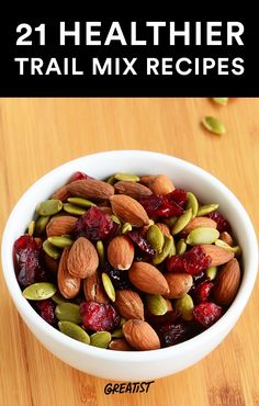 Got a case of the munchies? Snack on one of these healthy, tasty trail mixes. #healthy #trailmix #recipes https://greatist.com/health/21-healthier-trail-mix-ideas