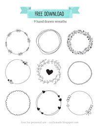 Free Download // Hand Drawn Wreaths