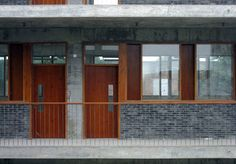 Image 13 of 24 from gallery of Xiaoquan Elementary School / TAO - Trace Architecture Office. Photograph by Yao Li Architecture Office, Tao, Elementary Schools, Facade, Gallery, Building, Outdoor Decor, Photograph, Home