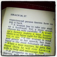 ''A woman's #beauty makes a #man #happy; there is no fairer sight for the human #eye to see... When a man marries, he gets the #finest thing he will EVER have -- a #wife to help and encourage him.'' #Sirach 36:22-24 #bible #bibleverse #scripture #truth ••• #marriage #union #husband #relationship http://instagram.com/p/hwD2L9Eox3/
