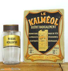 KALMEOL carton publicitaire. Pharmacie apothicaire sur www.muluBrok.fr Brocante en ligne