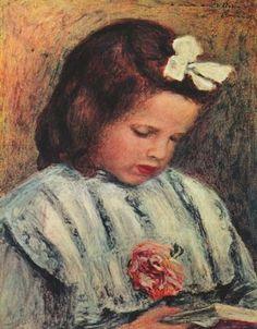 Reading girl. Pierre Auguste Renoir