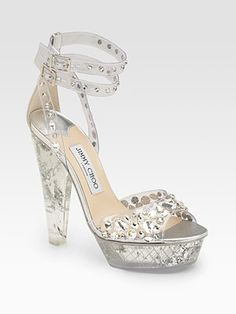 Jimmy Choo  Niagra Plex Crystal-Adorned Platform Sandals
