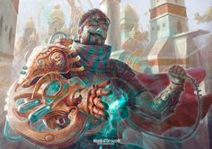 Spark of Creativity - Kaladesh MtG Art