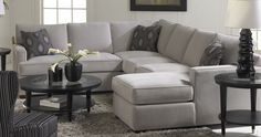 I want a grey sectional! Neutral enough to be able to use all sorts of fun pillows.