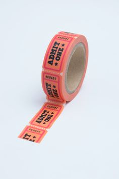 Washi Tape - - Coral and Pink Admit One Admission Ticket - Deco Paper Tapeâ? Washi Tape Crafts, Paper Crafts, Washi Tapes, Cute School Supplies, Craft Supplies, Filofax, Table Origami, Origami Owl, Voucher