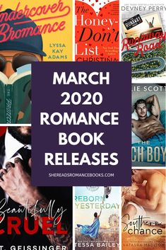 Romance Books Releasing in March 2020 — She Reads Romance Books - Trend Book Buddies 2019 Book List Must Read, Must Read Novels, Best Books To Read, Book Lists, Good Books, Popular Romance Novels, New Romance Books, Romance Authors, Book Authors