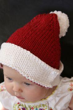 Ravelry: Santa Baby Hat pattern by Erika Neitzke. Free pattern to knit