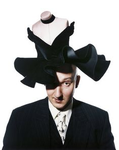 HATTER Stephen Jones, in a hat named for Carol Channing. Credit Barry J. Holmes. ""