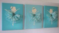 Bailarina ballet tutu azul, decoración recamara niña