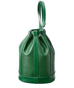 LOUIS VUITTON Louis Vuitton Green Epi Leather Randonnee Pm'. #louisvuitton #bags…