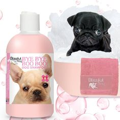 BYE BYE BOO BOO DOG SHAMPOO BANISH DRY ITCHY IRRITATIONS Even the most blissful of dogs may have the occasional skin issue that needs a bit more attention...something extra to help them heal and be comfortable. The BYE BYE BOO BOO collection features the power of herbal components working together to soothe your dog's discomforts. BYE BYE BOO BOO SHAMPOO for dogs with itchy, sensitive skin, dogs prone to hot spots, eczema, clipper irritation, yeasty conditions, oily seborrhea and minor skin irri Boo Dog, Dog Shampoo, Dog Shaking, Dry Nose, Dog Varieties, Bye Bye, Sensitive Skin, Bar Soap, Bliss